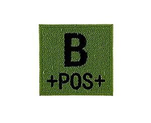 Patch ecusson brodé airsoft tactical militaire groupe sanguin thermocollant camo - B+