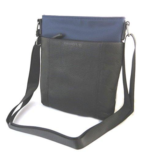 Bolsa de hombro 'Indispensable'azul oscuro (1 compartimento)- 24x21x5.5 cm.