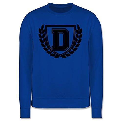 Anfangsbuchstaben - D Collegestyle - Herren Premium Pullover Royalblau