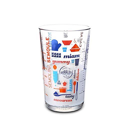 Jerome10Dan-HOME Skala Tasse Transparent Glas Digital Milch Messbecher Skala Küche Kochwerkzeug - Glas-digital-skala