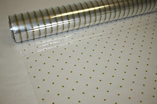 Gold Dot Cellophane Wrap - 5m x 80cm
