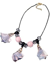 TBOP NECKLACE THE BEST OF PLANET Simple And Stylish Jewelry Exaggerated Rose Sweater Chain Necklace In Pink Color