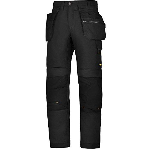 Snickers Workwear 6200allroundwork pantaloni da lavoro + con tasche, Nero, 62000404100