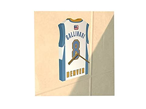 NBA BASKETBALL - TEAM JERSEY CLOCK - ANY NAME & ANY NUMBER - YOU CHOOSE! (Denver Nuggets NBA