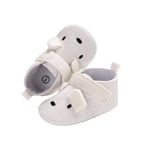 DEBAIJIA Baby Schuhe Baumwolltuch Material Kleinkind Schuhe Anti-Rutsch Tiere Muster Mode Lässig Prewalker Schuhe Geeignet für 6-36 Monate Säuglings Sportliche Trainer Unisex Klettverschluss -