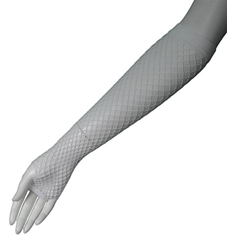 80's White Long Fishnet Adult Gloves [Apparel]