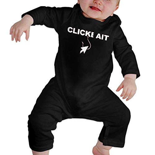 Junioren Long Sleeve Thermal (Bodys für Baby Lange Ärmel Cute Baby's Romper Long Sleeve Click Bait Unique Design Newborn Sleepsuit Gift)