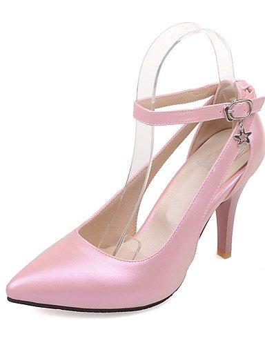 WSS 2016 Chaussures Femme-Bureau & Travail / Décontracté-Noir / Rose / Rouge / Blanc-Talon Aiguille-Talons / Bout Pointu-Talons-Polyuréthane black-us9 / eu40 / uk7 / cn41