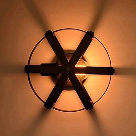 GUOQ Industrie Stil Retro Eisen Wandlampe Kreative Kreise Edison Wandleuchte