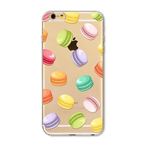 Coque iPhone 7 Plus Housse étui-Case Transparent Liquid Crystal en TPU Silicone Clair,Protection Ultra Mince Premium,Coque Prime pour iPhone 7 Plus-Beignet et de la glace-style 11 8