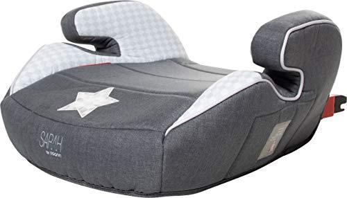 r Isofix Sarah Harrison/Sitzerhöhung mit Isofix/Kindersitzerhöhung ECE-Gruppe 2/3 15-36 kg/Sitzkissen Kinder 3 bis 12 Jahre/Autositz Kindersitz grau-schwarz, Design:Star ()