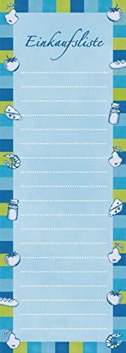 Einkaufsblock: 100 Einkaufszettel liniert für den Kühlschrank / Einkaufsliste  (magnetisch + Aufhänger)