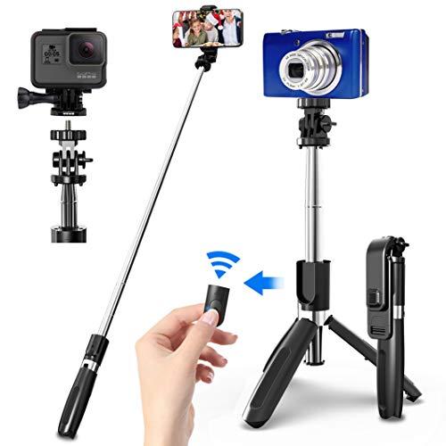 ¿Por qué elegir SYOSIN selfie stick?              Ligero y fácil de usar         Cuando está plegado, el Monopié robusto mide solo 20 cm. Pesa solo 170g y también visualmente. Por lo tanto, se puede colocar de forma fácil y rápida en la bolsa...