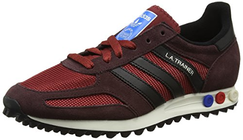Adidas Herren La Trainer Og Laufschuhe, Mehrfarbig (Mystery Red S17/Core Black/Night Brown), 43 1/3 EU
