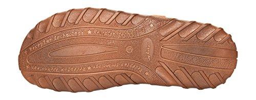 Herren Bequeme Sandalen Schuhe Mit Der Orthopadischen Einlage Aus Echtem Buffelleder Hausschuhe Modell 873 Kognak