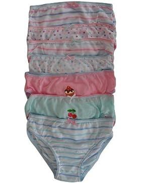 [Patrocinado]Girls Ropa interior–Estampado 100% algodón Slip en caja de regalo (Pack de 7)
