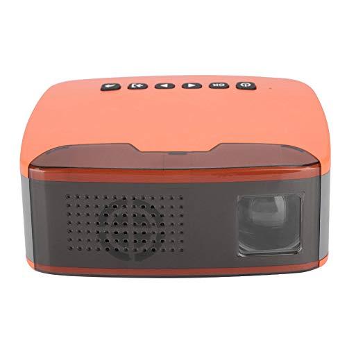 ASHATA Mini Proyector HD, 1080P Proyector Multimedia de Cine en Casa Universal Portátil,Projector de Home Cinema con Mando a Distancia para hogar.(EU Plug)