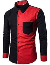 4c23a079e37 Lannister Fashion T-Shirt Manches Longues Manches Longues pour Hommes Mâle  T-Shirt À Col Boutonné Homme Automne Automne Lose Pull…