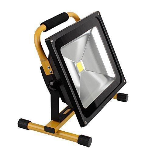 Viktion - 50W LED ProFi projecteur Lampe de travail portable 360°Rotatif avec batterie Li-ion de travail 4 heures IP65 étanche (50W)