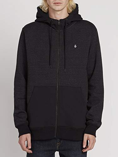 Volcom Hoodie Sngl STN Zip - Herren Hoodie - Sulfur Black Volcom Zip-hoodies