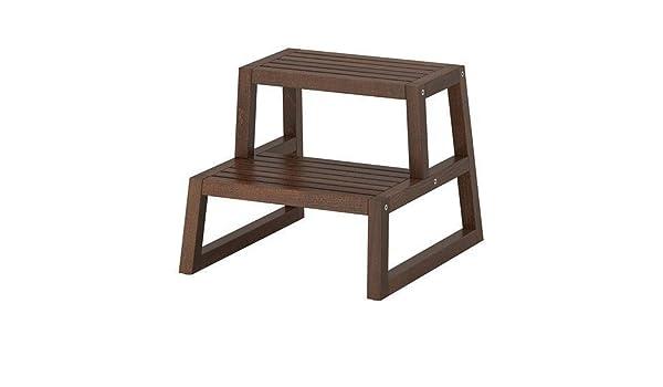 Ikea molger in sgabello marrone scuro: amazon.it: casa e cucina