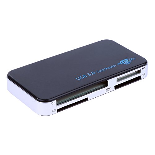 RGBs USB 3.0 SuperSpeed All-In-1 Multi Memory Card Reader für Compact Flash/Micro SD/SD/TF/CF/XD/M2/MS Karten mit USB 3.0 Kabel schwarz (Usb Compact-flash-reader 3)