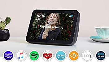 Introducing Echo Show 8   Stay in touch with the help of Alexa, Charcoal fabric