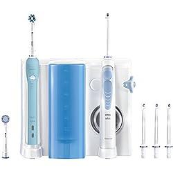 Oral-B Mundpflege Center - WaterJet Munddusche + Oral-B Pro 700 Elektrische Zahnbürste, mit vier WaterJet Aufsteckteilen und zwei Aufsteckbürsten