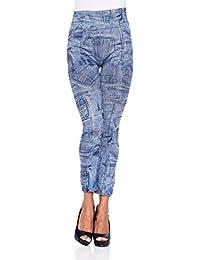 Intimax corsets lencería y moda T2169, Leggings Donna, (Blu), S/M