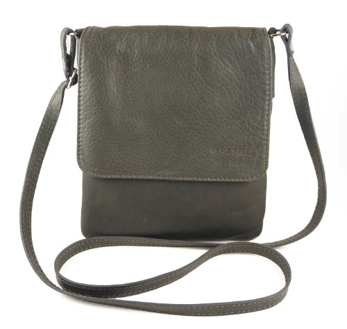 Italian Bag Company - Borsa a tracolla Donna Dark Gray Khaki