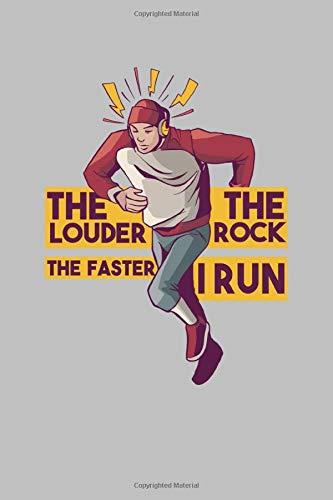 The Louder The Rock The Faster I Run: Notizbuch / Tagebuch für Läufer, Jogger zum Training für Marathon und zur Dokumentation von Läufen, Zeiten und Erfolgen, ca. A5 (6x9), gepunktet, 120 Seiten