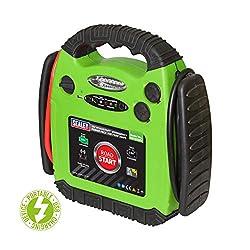 Sealey RS1312HV RoadStart Emergency Power Pack 12V 900 Peak Amps Hi-Vis, Green/Black
