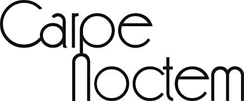 GRAZDesign Wanddeko Wandspruch Carpe Noctem - Wandaufkleber Klebefolie Gute Nacht Sprüche - Wandtattoo Schlafzimmer Schriftzug / 96x40cm / 720047_40_070
