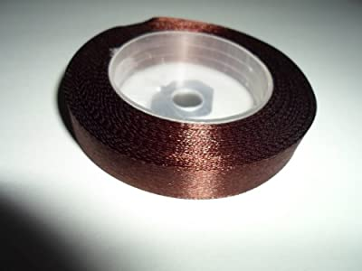 "1 Roll x 12mm 1/2"" Satin Ribbon Chestnut Brown minimum 13 metres"
