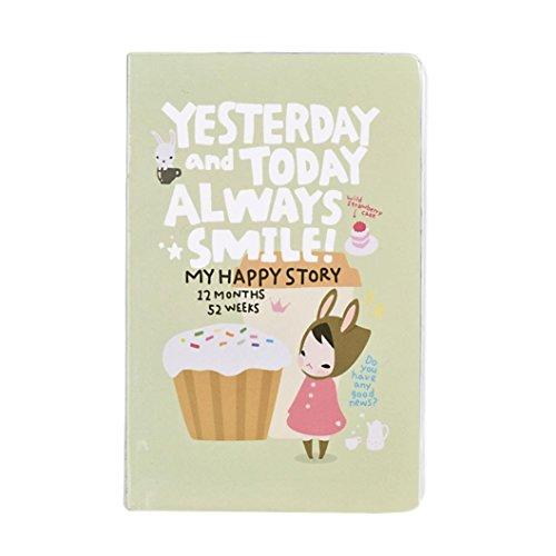 Preisvergleich Produktbild winwintom Cute Weekly plannerdiary Notebook grün