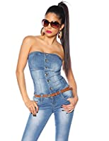Atixo Jeans-Overall blau