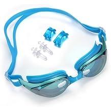Gafas de Natación Nadar Entrenamiento Silicona PC Antiniebla contra UV Azul