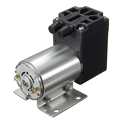 Xbeast DC12V Vakuumpumpe 5L / Min Hochdruck-Membran-Luftpumpe Geräuschlos und Hohe Effizienz Elektrische Miniatur-Hochdruck-Inhalationsmembranpumpe