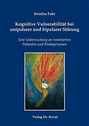 Cover »Kognitive Vulnerabilität bei unipolarer und bipolarer Störung«