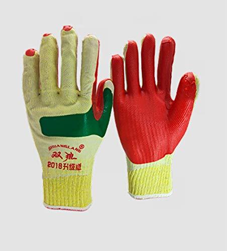 GHDCOM Arbeitsversicherung Abriebfeste 、 säurebeständige atmungsaktive Gummi-Schutzhandschuhe (Schweißen Engineering)