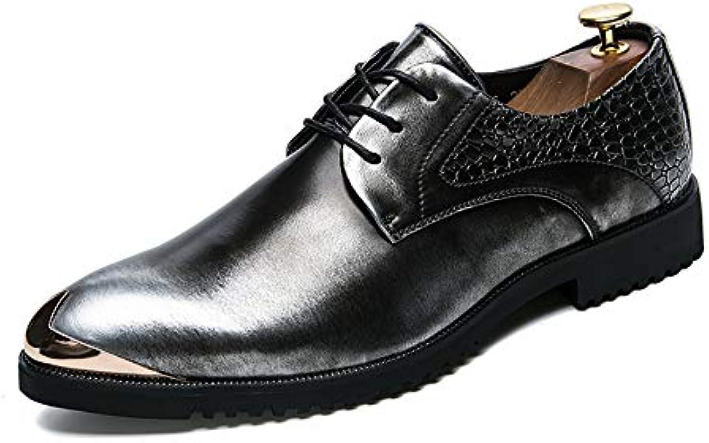 la personnalité des hommes anti brosse anti hommes - collision rétro couleur de cuir des chaussures à embout en métal officiel de mariage... 7047d2