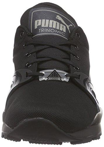 Puma Xt S Jr, Sneakers basses mixte enfant Noir - Schwarz (black-drizzle 02)