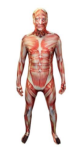 Morphsuits MPNMSL - Kostüm Muskel, Größe L, rot