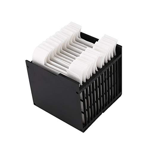 Sen-Sen Portable Mini Air Cooler Fan Filterpapier für Schlafzimmer schwarz & weiß