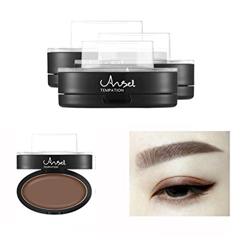 OverDose Brow Stempel Pulver Delicated Natürlich Perfect Enhancer Straight United Augenbraue Brow Stamp Powder Kaffee