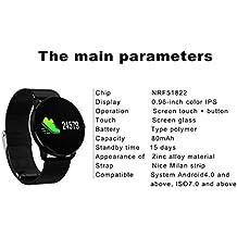Pulsera Inteligente CF007s Color Pulsera Inteligente Frecuencia Cardíaca Presión Arterial Reloj Deportivo Podómetro Fitness Tracker Smartband , Black
