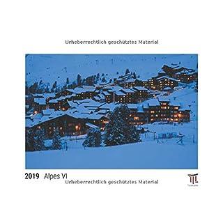 Alpes VI 2019 - Édition blanche - Calendrier mural Timokrates, calendrier photo, calendrier photo - DIN A3 (42 x 30 cm)