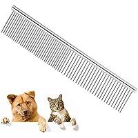 pinkopink Pet Dog Cat Grooming peine cepillo acero inoxidable para pelo perros Barber Grooming Herramientas