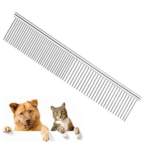 Pinkopink pet dog cat grooming pettine spazzola in acciaio inox per shaggy dogs barber grooming tools