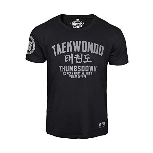 Thumbsdown Thumbs Down Taekwondo T-shirt. Korean Martial Arts. MMA. Gym. Training. Casual (Größe XXLarge)